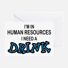 HR Need a Drink Greeting Cards (Pk of 10)