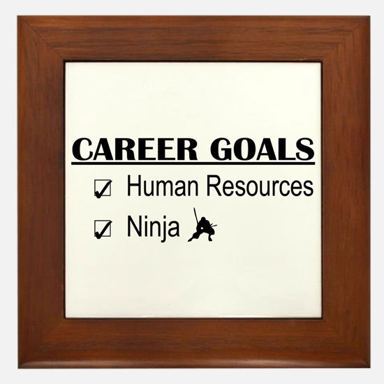 HR Career Goals Framed Tile