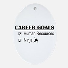 HR Career Goals Oval Ornament