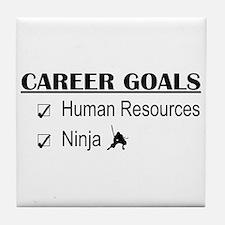 HR Career Goals Tile Coaster