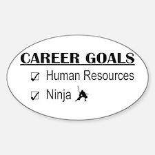 HR Career Goals Oval Decal