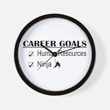 HR Career Goals Wall Clock