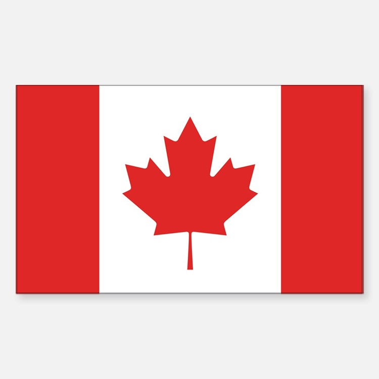 Flag of Canada Rectangle Decal
