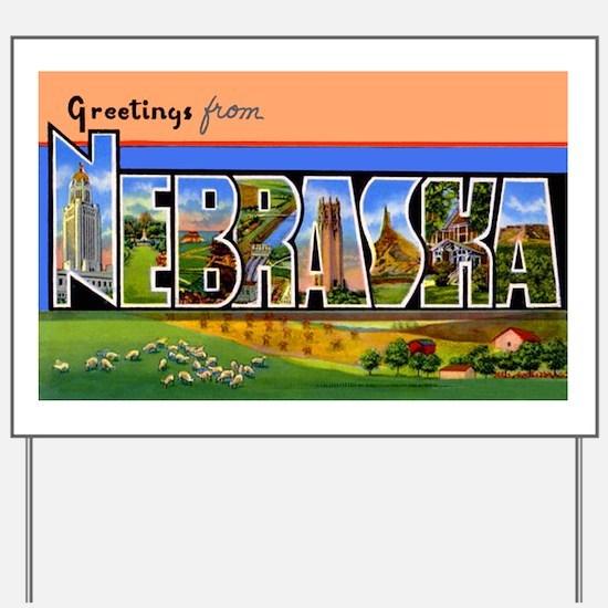 Nebraska Greetings Yard Sign