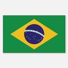 Flag of Brazil Rectangle Decal