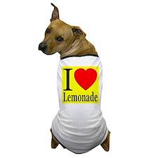 I Love Lemonade Dog T-Shirt