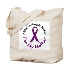 Purple Ribbon For My Mother 4 Tote Bag