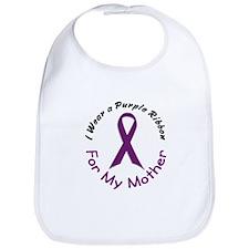 Purple Ribbon For My Mother 4 Bib