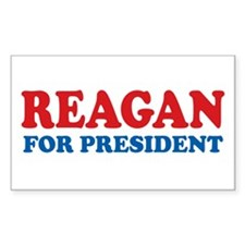 Reagan for President Rectangle Decal