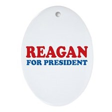 Reagan for President Oval Ornament