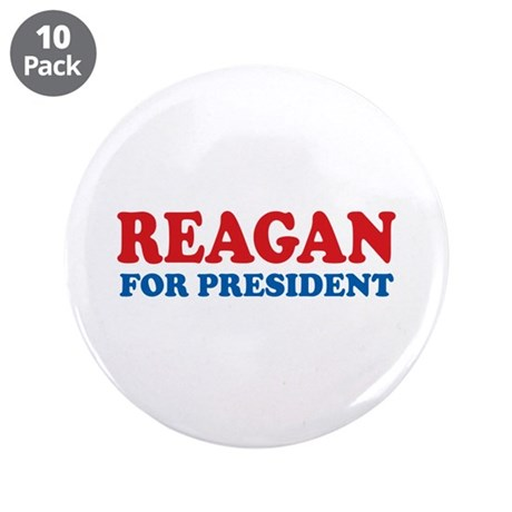 """Reagan for President 3.5"""" Button (10 pack)"""