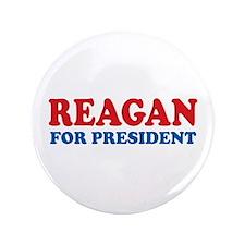 """Reagan for President 3.5"""" Button"""