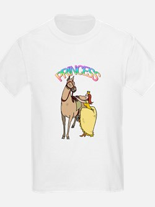 Redhead Princess and Pony Kids T-Shirt