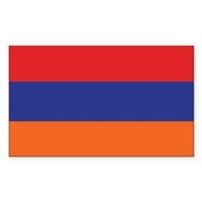 Flag of Armenia Rectangle Decal