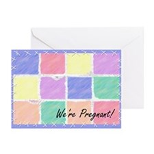We're Pregnant 1c Greeting Cards (10)