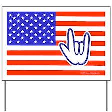 ILY Flag Yard Sign