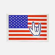 ILY Flag Rectangle Magnet