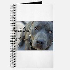 Cute Pitbull Journal