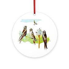 Purple Martin Bird Ornament (Round)