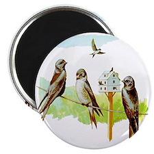 Purple Martin Bird Magnet