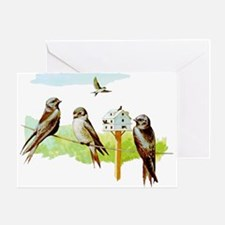 Purple Martin Bird Greeting Card