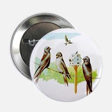"Purple Martin Bird 2.25"" Button"