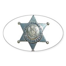 Chicago, Illinois Police Dete Oval Decal