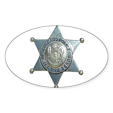 Chicago, Illinois Police Dete Oval Sticker