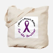 Purple Ribbon For My Brother 4 Tote Bag