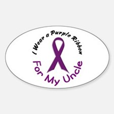 Purple Ribbon For My Uncle 4 Oval Decal