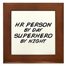 HR Superhero by Night Framed Tile
