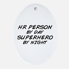 HR Superhero by Night Oval Ornament