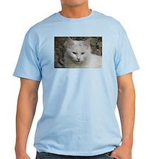White Cat Photo T-Shirt
