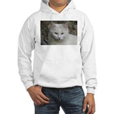White Cat Photo Hoodie