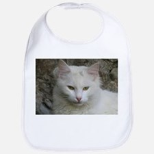 White Cat Photo Bib