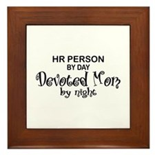 HR Devoted Mom Framed Tile