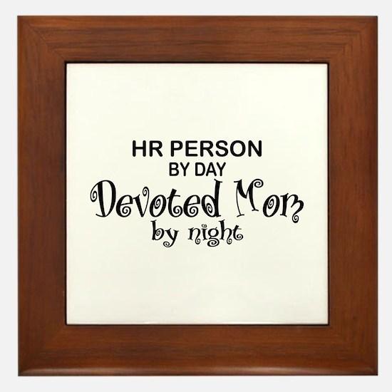 HR Devoted Mom Framed Tile