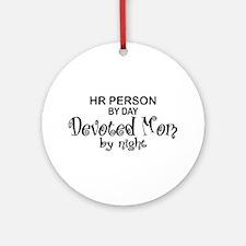 HR Devoted Mom Ornament (Round)