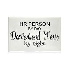 HR Devoted Mom Rectangle Magnet