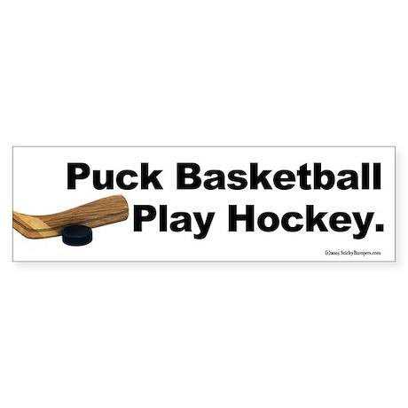 Puck Basketball, the Hockey player's sticker.