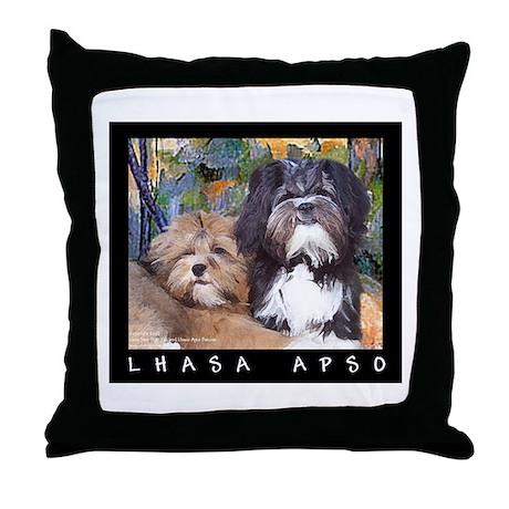 Free Spirit Puppies Throw Pillow