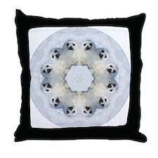 Harp Seal Mandala Throw Pillow