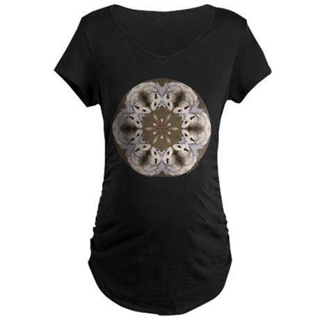 Opossum Mandala Maternity Dark T-Shirt