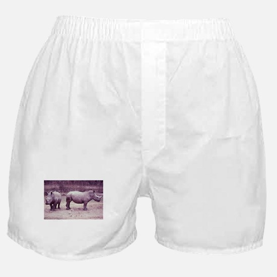 Rhinos Photo Boxer Shorts