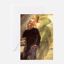 Albert Maignan - Green Muse Greeting Card