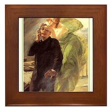 Albert Maignan - Green Muse Framed Tile
