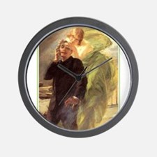 Albert Maignan - Green Muse Wall Clock