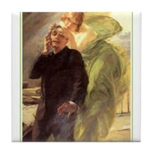 Albert Maignan - Green Muse Tile Coaster
