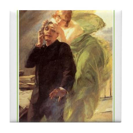 Albert Maignan - Green Muse Tile Coaster