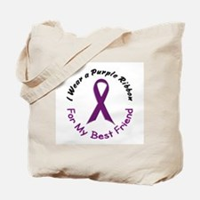 Purple Ribbon For My Best Friend 4 Tote Bag